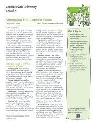 Managing Houseplant Pests - Colorado State University Extension