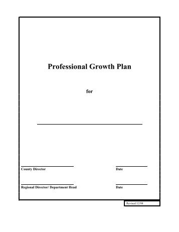 Your Professional Growth Plan