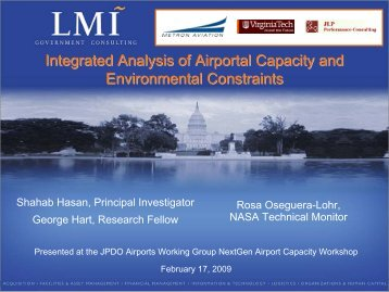 Integrated Analysis of Airportal Capacity and Environmental ...