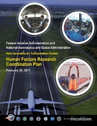 NextGen Human Factors Research Coordination Plan - FAA Human ...