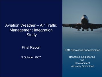 Aviation Weather - Air Traffic Management Integration Study - Leber