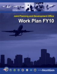 fiscal year 2010 work plan - Joint Planning and Development Office
