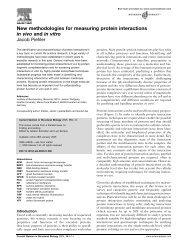 New methodologies for measuring protein ... - Fachbereich 5 Biologie