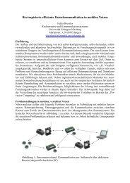 Bio-inspirierte effiziente Datenkommunikation in mobilen Netzen