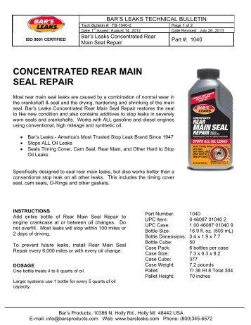 Block Seal Head Gasket Repair Bars Leaks Rislone