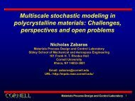 Multiscale stochastic modeling in polycrystalline materials ...
