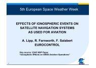 5th European Space Weather Week - Solar Influences Data Center