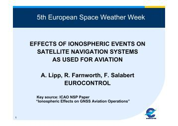 5th European Space Weather Week - Solar Influences Data Center