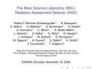 Radiation Assessment Detector (RAD) - Solar Influences Data Center