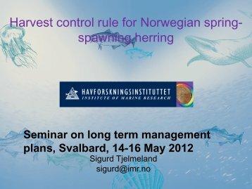 Harvest control rule for Norwegian spring- spawning herring