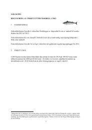 1 SAK 26/2011 REGULERING AV FISKET ... - Fiskeridirektoratet
