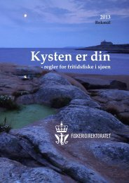 Kysten er din 2013, bokmål (PDF) - Fiskeridirektoratet