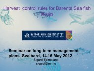 Harvest control rules for Barents Sea fish stocks