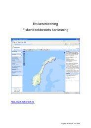 Brukerveiledning Fiskeridirektoratets kartløsning