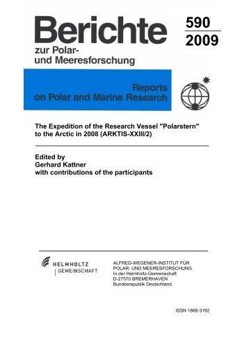 to the Arctic in 2008 (ARKTIS-XXIII/2)