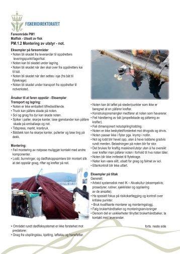 PM1.2 Montering av utstyr - not.indd - Fiskeridirektoratet