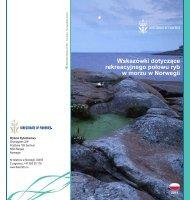 Wskazówki dotyczące rekreacyjnego połowu ryb w morzu w Norwegii