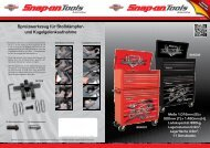Angebotsflyer - Snap-on Tools