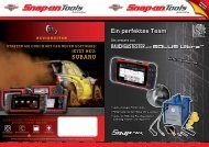 Ein perfektes Team - Snap-on Tools