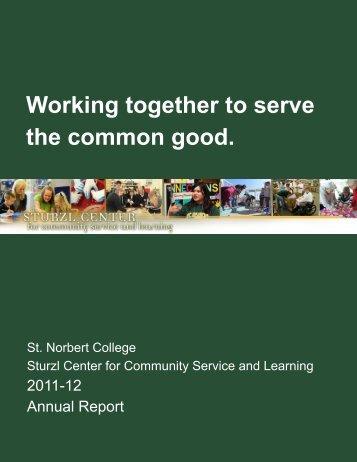 2011-12 Sturzl Center Annual Report - St. Norbert College