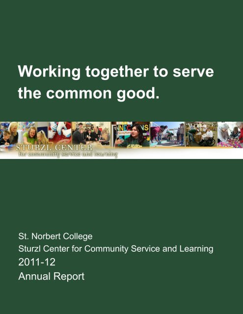 2011-12 Sturzl Center Annual Report - St. Norbert College