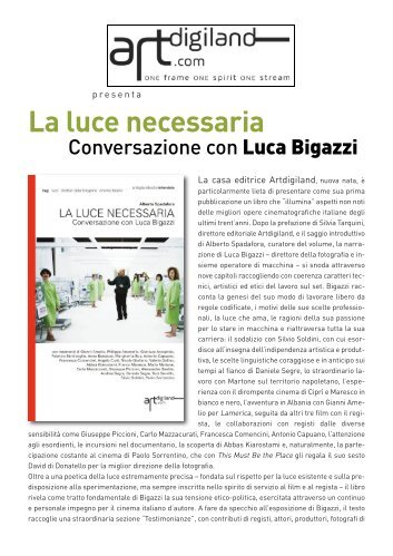 La luce necessaria. Conversazione con Luca Bigazzi