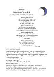 Lichtblick für den Monat Februar 2013 Folge dem Stern in dir der ...