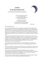 Lichtblick für den Monat Dezember 2012