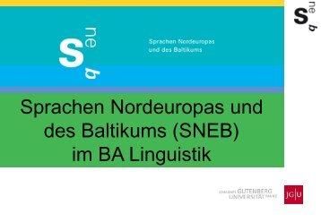 BA Linguistik - Sprachen Nordeuropas und des Baltikums