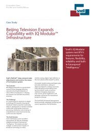 Beijing Television Expands Capability with IQ Modular ... - Snell