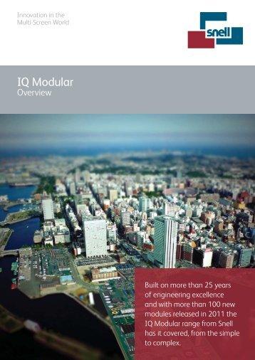 IQ Modular Overview Brochure - Snell
