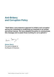 Anti-Bribery and Corruption Policy - Snell