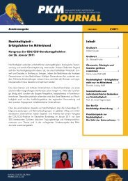 PKM JOURNAL Sonderausgabe Nachhaltigkeit I-2011.pub