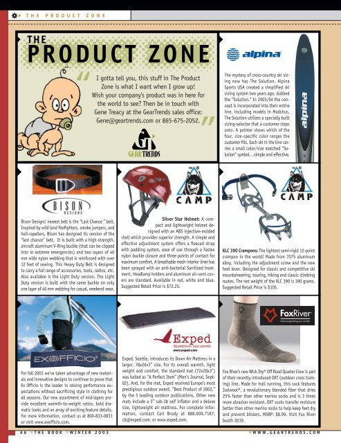 the product zone - Snews