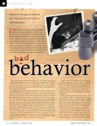 Behavior Bad - Amazon Web Services
