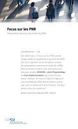 Focus sur les PNR (PDF, 192 KB)