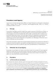 Procédure Lead Agency (LA) (PDF, 83 KB)