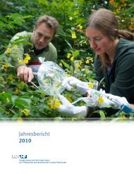 Jahresbericht 2010 - Schweizerischer Nationalfonds (SNF)