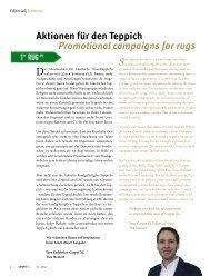 Aktionen für den Teppich Promotional campaigns for rugs - beim SN ...