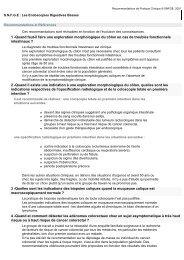 Recommandations de Pratique Clinique © SNFGE, 2001