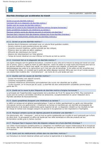 Item 303 – Diarrhée chronique D - SNFGE