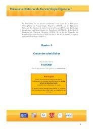 Cancer des voies biliaires 11/07/2007 - SNFGE