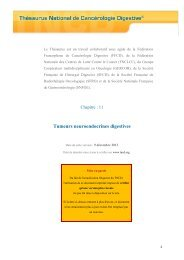 Tumeurs endocrines digestives 12/05/2011 - SNFGE