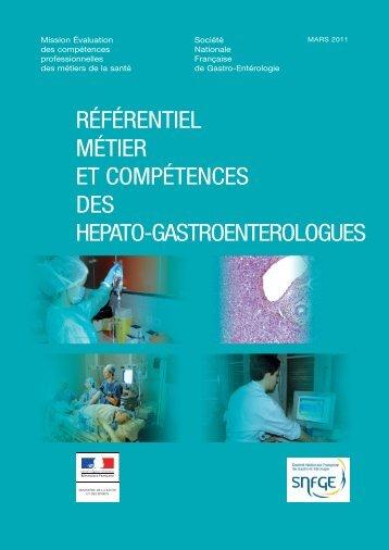 Référentiel métier de l'hépato-gastroentérologue - SNFGE