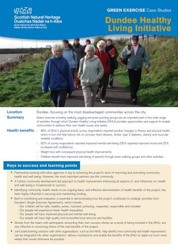 Dundee Healthy Living Initiative - Scottish Natural Heritage