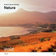 Natura sites in Scotland (SNH booklet) - Scottish Natural Heritage