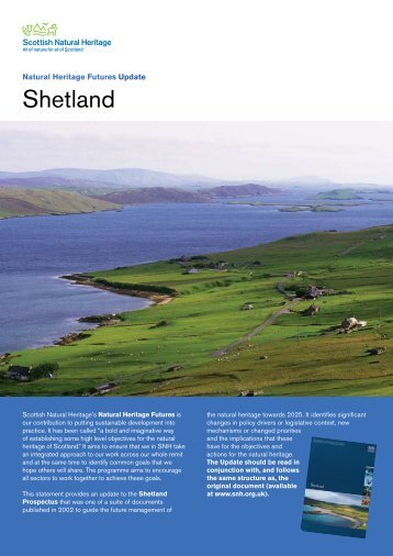 Shetland - 2009 update - Scottish Natural Heritage