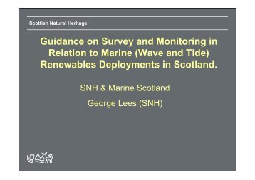 Renewables Deployments in Scotland. - Scottish Natural Heritage