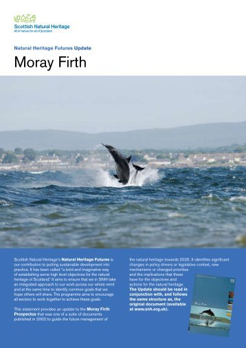 Moray Firth - 2009 update - Scottish Natural Heritage