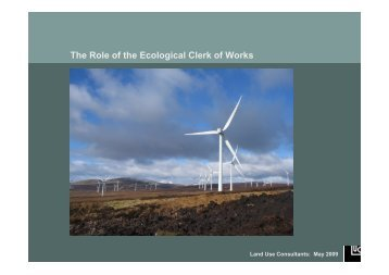The Role of the Ecological Clerk of Works